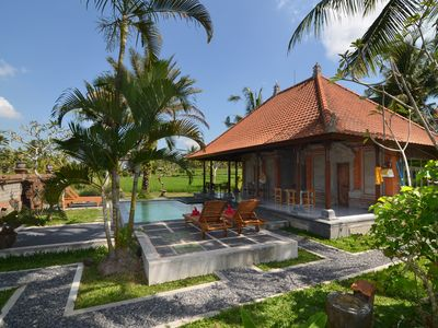 Photo for Balinese villa in paddy fields nearby walking distance to Ubud center.