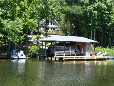 Photo for NEW TO VBRO!! Cute family-friendly home in a secluded cove of Lake Gaston