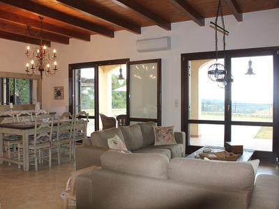 Photo for A beautiful villa with amazing views over the Ionian Sea.