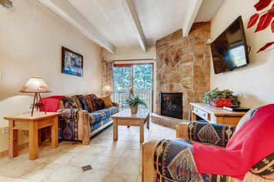 Southwestern and Mountain styles blended throughout the condominium