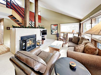 Photo for Cozy 3BR w/ Loft, Fireplace, Heated Pool & Hot Tub - Near Slopes, Bus Route