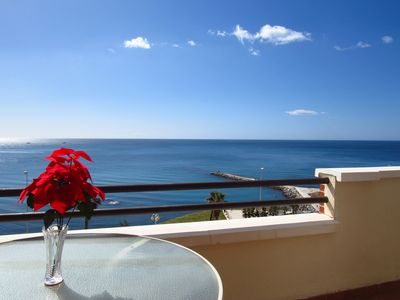 Photo for Luxury 3 bedroom duplex penthouse with frontal sea views 50m from the beach
