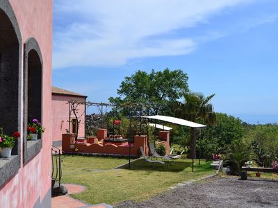 Photo for A beautiful typical, rustique Sicilian farmhouse with restaurant close to Etna