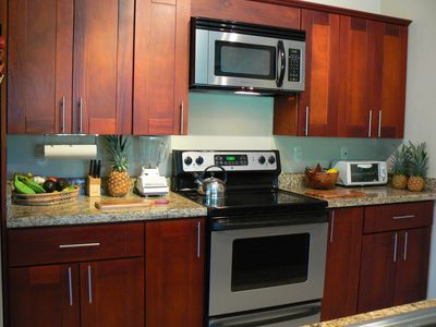 Fully equipt kitchen with all the luxury of home