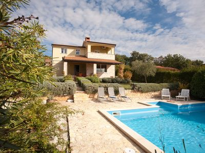 Photo for Villa Sofia: Private Pool, Mature Garden, Sea Views