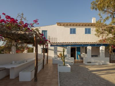 Photo for Offer € 600 / night June. Casa Migjorn 10 pax, barbecue, terrace with sea views