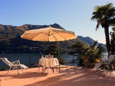 Photo for Elegant apartment on Lake Como with a large terrace. Carate Urio (COMO)