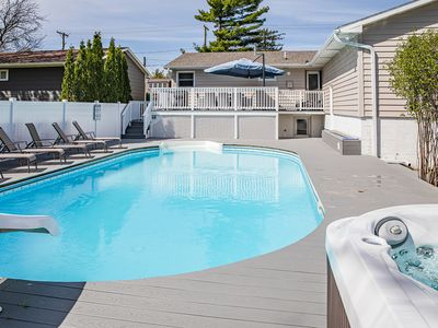 Photo for Remodeled, dog friendly, private pool, hot tub, downtown location, no car needed
