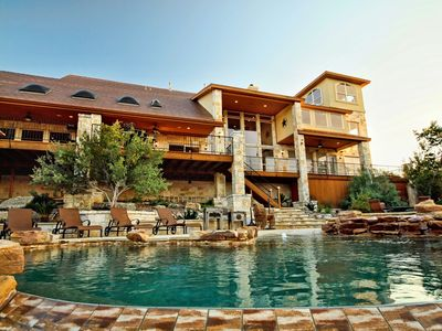 Photo for PARADISE ESTATE--5 Bdrm, Great Gameroom, Infinity Pool/Spa, Lake Travis Access