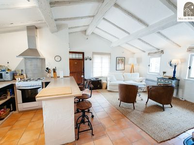 Photo for Loge du Chauffeur, Luxurious Olive Farm Apartment with beautiful interior design