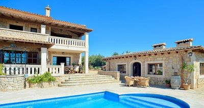 Photo for 5 bedroom Villa, sleeps 10 in s'Horta with Air Con and WiFi