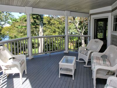Photo for Gracious Home With Tennis Court & Water Views