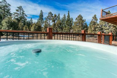 Hot Tub  - Private Hot Tub with a Beautiful view of large property