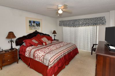 Master Bedroom With Walkout Onto Balcony.