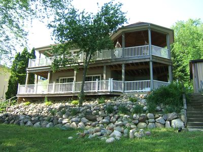 Photo for Lakefront, hilltop,  newer home for Family and Friends fun and enjoyment