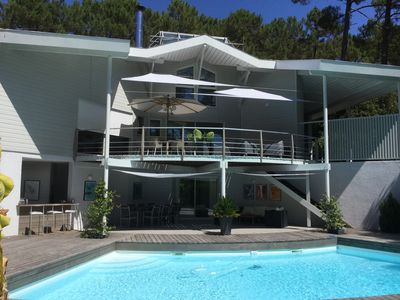Photo for BEAUTIFUL ARCHITECT VILLA ON THE GOLF WITH HEATED SWIMMING POOL