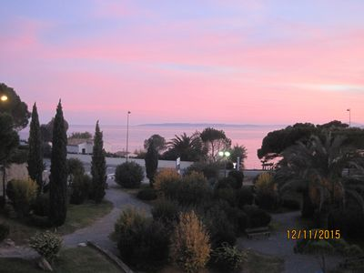 Photo for LES ISSAMBRES, Appt and terrassse sea view, Reside Pierre and Vacances Les Calanques