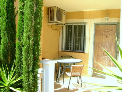 Photo for The high quality bungalow in a pine forest, only 5 minutes walk from the beach