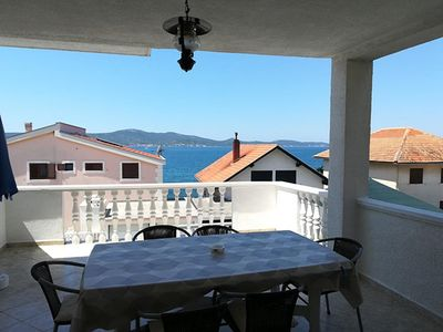 Photo for Two bedroom apartment with terrace and sea view Sveti Petar, Biograd (A-356-c)