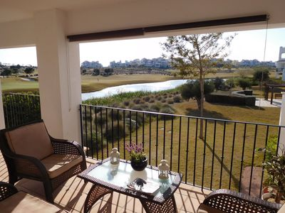 Wonderful open views of the lake and golf course