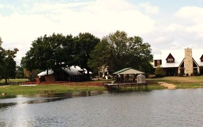 Star Lake Rental on left and owners property at right.