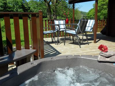 Photo for Tarn Hows Lodge - Pet friendly, Hot Tub, sleeps 4 overlooking the river