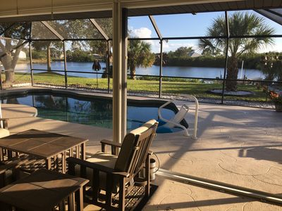 Photo for Relax by the pool overlooking the water--it gets no better than this!