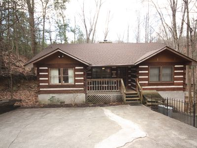 Photo for Tucked into the forest, this cozy log cabin is perfect for honeymooners