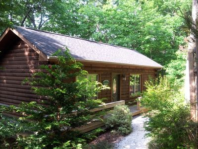 Photo for Romantic Honey Cabins with Double Jacuzzi tubs & Lake Access Free Canoe & kayak