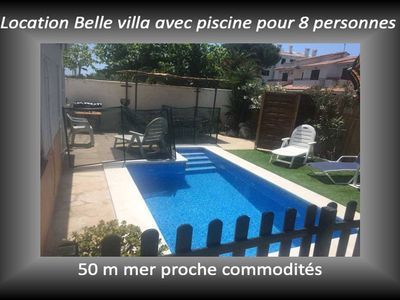 Photo for SPAIN. Cambrils beautiful villa with private pool for 8/10 pers 50m sea