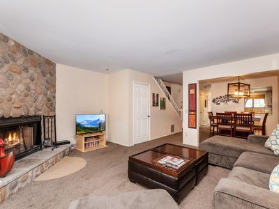 Photo for Summit Ski and Ride : Walk to Snow Summit! Fireplace! BBQ! Cable TV! Laundry! Pet Friendly! WiFi!