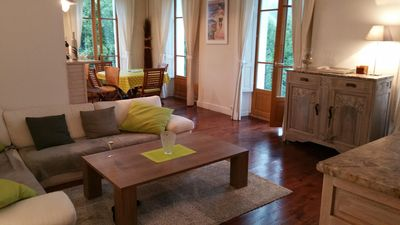 Photo for T3 charming 85m2, full center LUCHON, mountain view, balconies, very bright