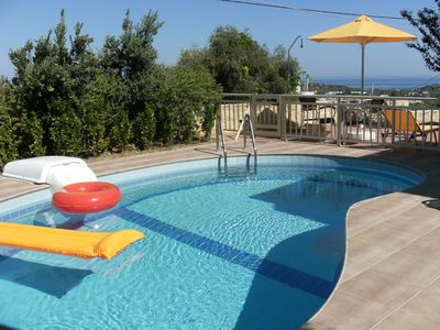 Photo for Helidonia Villas-STEFANOS, sea view & private pool, near beach & Rethymno