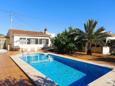 Photo for This 2-bedroom villa for up to 4 guests is located in Benissa and has a private swimming pool, air-c