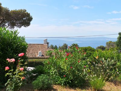 Photo for LES ISSAMBRES Villa at 300m. the sea and downtown San Peïre 10 PEOPLE