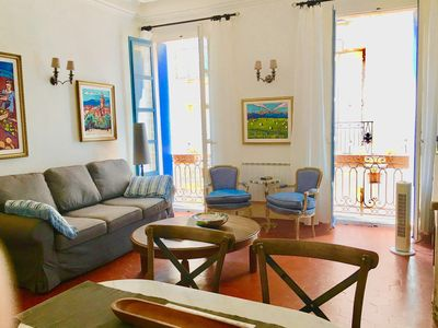 Photo for Bright, Romantic & Elegant 2 Bedroom Character Apt. in the Heart of Pezenas