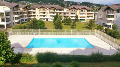 Photo for Super apartment 5min from Geneva / Switzerland with views of Mont Blanc
