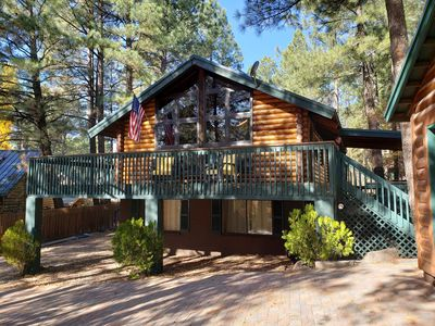 A Log Cabin in the Pines