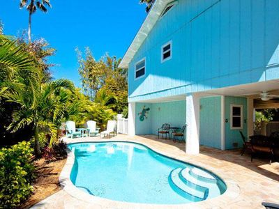 Photo for Dog-friendly beach bungalow with private pool, balcony, and lanai