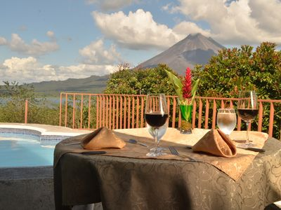 Photo for Junior Suite Private Room, A/C, Balcony Volcano View. Max 4 People per room.