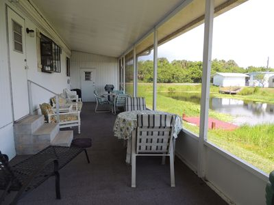 Photo for Double Wide Mobile Home 2/2 on Canal with Dock on Kissimmee River
