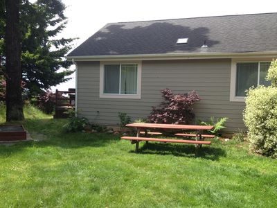 A second large picnic table for more dining space!