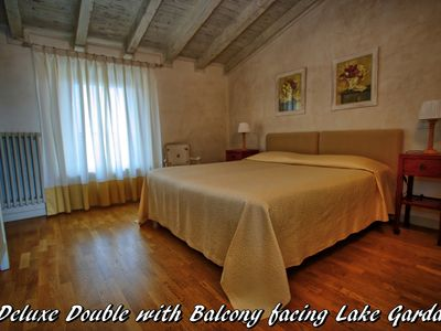 Photo for Deluxe rooms with balcony overlooking Lake Garda breakfast included in the morning