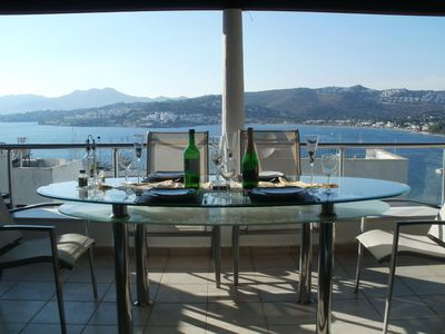 View from the main terrace over Bitez bay and Marina