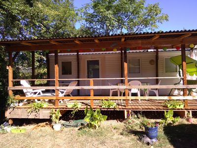 Photo for Near the lake, mobile home with air conditioning 5people