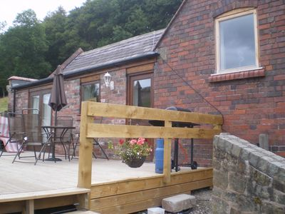 Photo for Llangollen Lodge has amazing views enclosed garden/patio area pet friendly