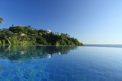 View from the swimming pool, South