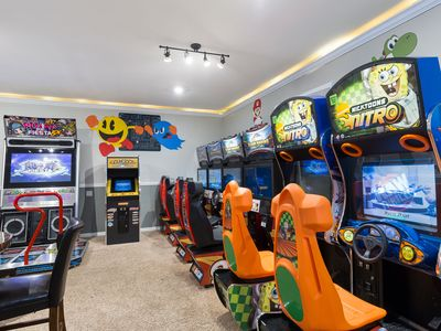 Photo for 3 Bed Villa with Games Room with Arcade Machines, Private Theater, and more