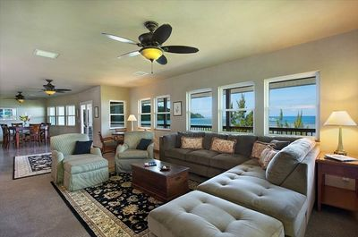 Relax!  Living Room on the Main Floor. Opens out onto the Lanai.