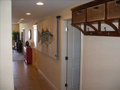 Beautiful tiled entry hallway leads to your perfect getaway.